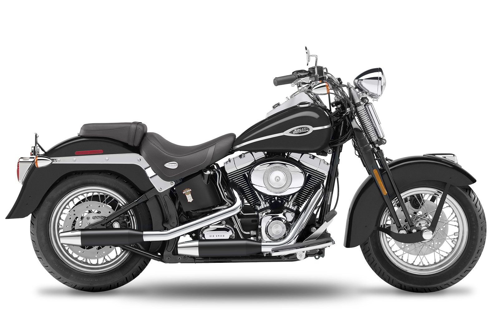 Softail - Springer - Evolution - -1999 - Slipons